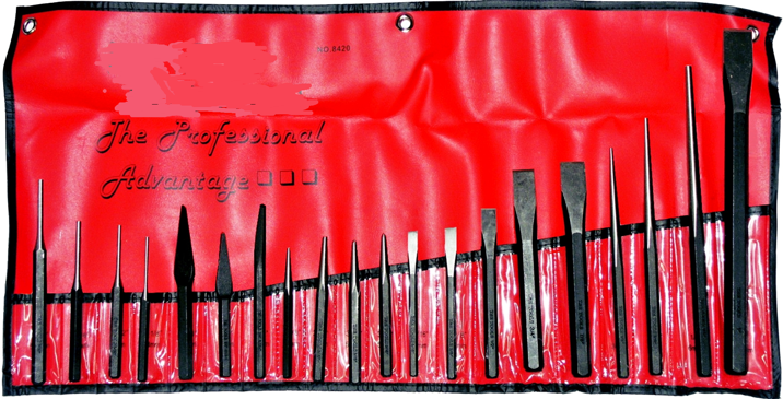 AT8420 20 Piece Punch & Chisel Set