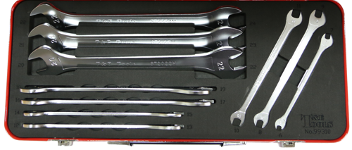 AT99310 '10 Piece' Metric Super Thin Open End Wrenches 8-32mm